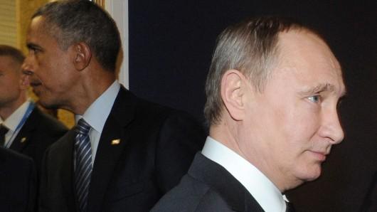 Sie haben sich wohl nichts mehr zu sagen: US-Präsident Barack Obama und Russlands Präsident Wladimir Putin.