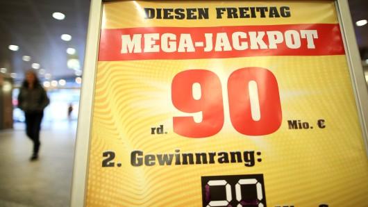 90 Millionen Euro waren im Euro-Jackpot - und da bleiben sie vorerst auch.