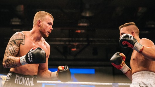 Patrick Rokohl im Kampf gegen Toni Camin