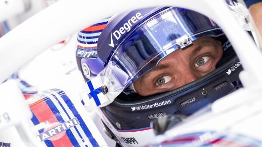 Der neue Pilot im Mercedes-Cockpit: Valtteri Bottas.