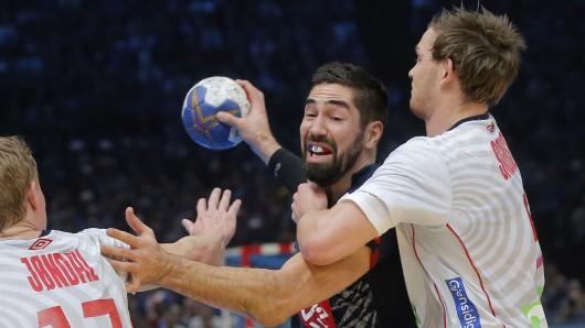 Nikola Karabatic (M) war mit sechs Treffern erfolgreichster Werfer des Handball-Weltmeisters Frankreich.