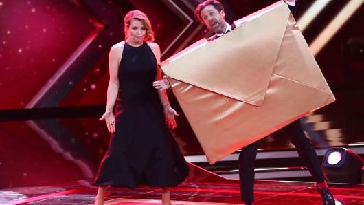 Die Comedians Annette Frier und Matthias Matschke halten die Laudatio für die Kategorie Beste deutsche Schauspielerin.