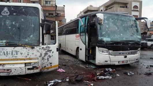 Busse mit schiitischen Gläubigen waren das Ziel des Doppel-Anschlags in Damaskus.