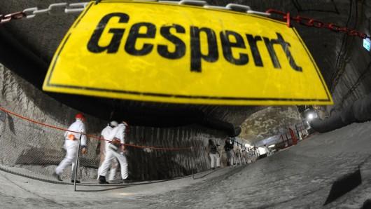 Das ausgediente Salzbergwerk bei Remlingen dient seit einem halben Jahrhundert als Lager für schwach- und mittelstark strahlende Abfälle.