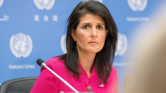Die UN-Botschafterin der USA, Nikki Haley (Archivbild)