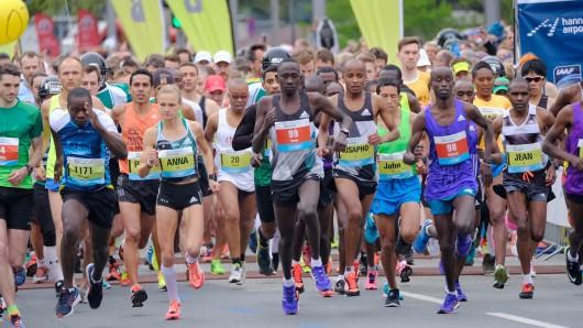 Der Start beim Hannover Marathon 2016.