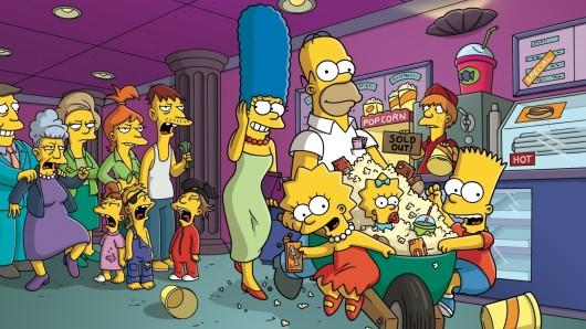 Familie Simpson (rechts).