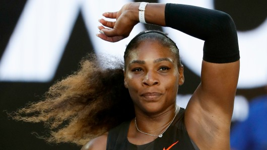 Serena Williams nach ihrem Sieg bei den Australian Open im Januar.