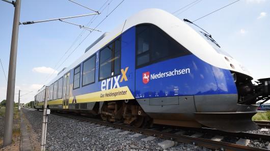 Der Lokführer des Erixx konnte noch rechtzeitig bremsen (Symbolbild).