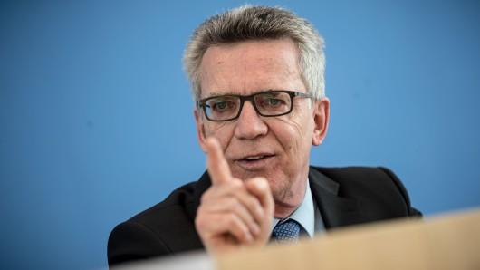 Bundesinnenminister Thomas de Maiziere (CDU)