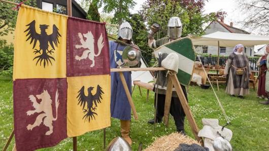 Bedrohlich: Ritter sind beim Museumsfest am Schloss Salder auch mit dabei (Archivbild).