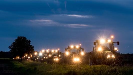 Bei Peine hatten Mitte Mai Landwirte mit ihren Schleppern gegen die mögliche Südlink-Trasse durch die Region Peine/Salzgitter protestiert.