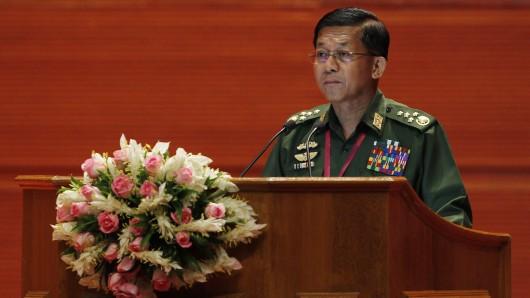 Myanmars Militärchef, General Min Aung Hlaing (Archivbild).