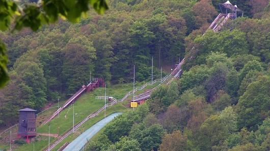 Im Zwölfmorgental bei Wernigerode stehen mehrere Schanzen; die größte von Ihnen geht nun wieder in Betrieb (Archivbild).