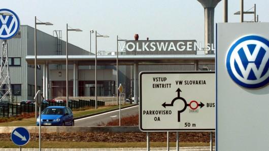 Im VW-Werk Bratislava stehen seit Dienstag die Bänder still.