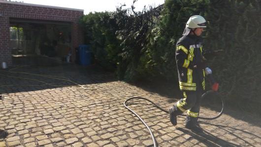 Feuerwehreinsatz nach Unkrautbekämpfung.