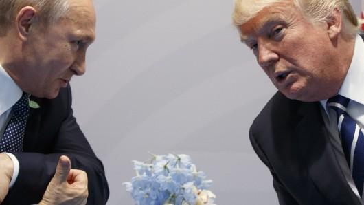 Der russische Präsident Wladimir Pution (l.) und sein US-amerikanischer Amtskollege Donald Trump bei ihrem Treffen in Hamburg