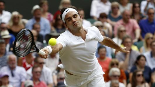 Roger Federer im Finale von Wimbledon.