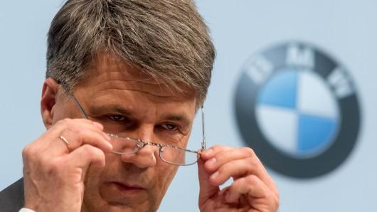 Der BMW-Vorstandsvorsitzende Harald Krüger bei der jüngsten Bilanzpressekonferenz des Münchner Autobauers.