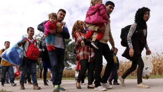 Flüchtlinge auf der Balkanroute (Archivbild).