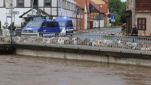 Die Holtemme hatte wegen der extremen Niederschläge besonders viel Strömung.