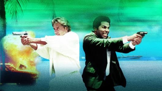 Don Johnson und Philip Michael Thomas in der Originalserie Miami Vice.