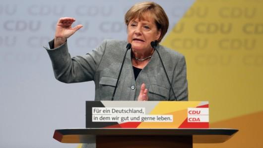 Bundeskanzlerin Angela Merkel bei ihrem Start in die heiße Wahlkampfphase.