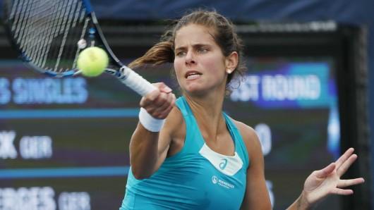 Julia Görges ist bei den US Open in die zweite Runde eingezogen.