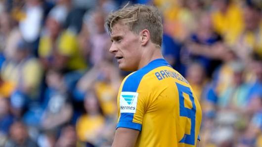 Eintracht-Stürmer Julius Biada fällt mehrere Wochen aus.