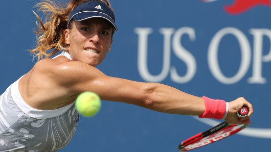 Andrea Petkovic in Aktion während der US Open 2016 (Archivbild).