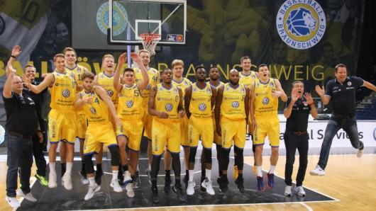 Auf dem Sprung in die neue Saison: Die Basketball Löwen Braunschweig.