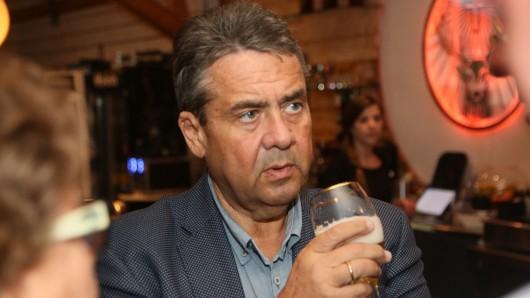 Sigmar Gabriel bei der SPD-Wahlparty in Wolfenbüttel.