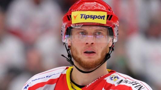 Kamil Kreps, hier noch in Diensten von HC Ocelari Trinec, bescherte den Grizzlys am heutigen Sonntag einen Hattrick gegen die Krefeld Pinguins.