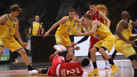 Die Basketballlöwen siegen gegen die Rockets Gotha (Archivbild).