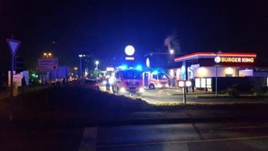 Die Feuerwehr war bei Burger King – allerdings beruflich.