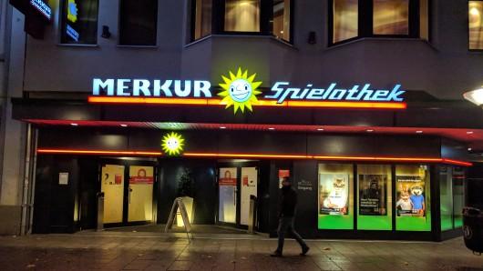 Eine Spielothek in der Friedrich-Wilhelm-Straße in Braunschweig.