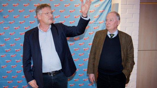 Noch bilden Jörg Meuthen und Alexander Gauland (rechts) die Spitze der AfD. Womöglich ändert sich das in Braunschweig. (Archivbild)