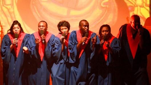 Der Gospelchor animiert das Publikum bei seinen Shows zum Mitmachen.
