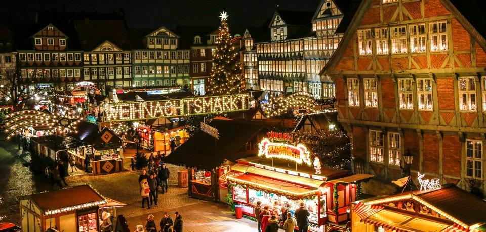 Der Weihnachtsmarkt in Wolfenbüttel.