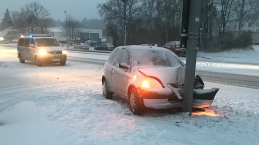 In der Region ist es am Sonntagnachmittag bereits zu einigen Unfällen gekommen - so wie hier in Salzgitter-Bad.