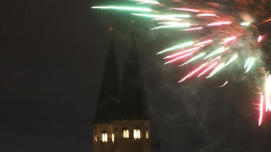 Silvester 2017/18 an der Martinikirche in Braunschweig.