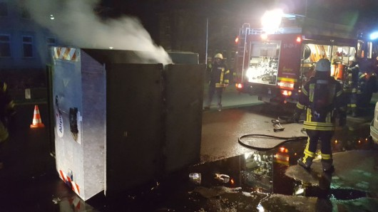 Schon einen Tag zuvor hatte ein Container gebrannt.