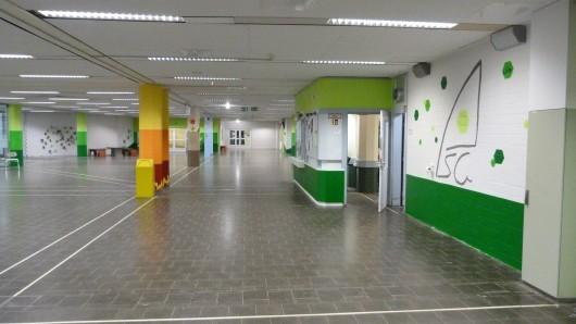 Zwei Tage  lang hatten die Schüler ihre Pausenhalle verschönert.