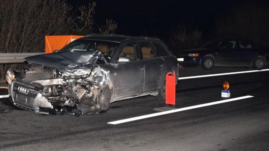 Der Audi war in den Unfall mit dem Wagen der Schwangeren verwickelt.