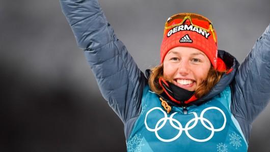 Sie hat sich ihren Kindheitstraum erfüllt und bei den Olympischen Winterspielen Gold geholt: Laura Dahlmeier.