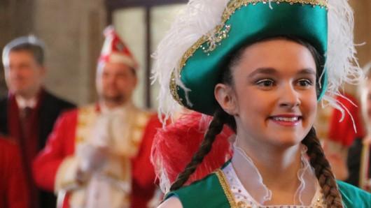 Was für ein strahlendes Lächeln: Tanzmariechen Nina.