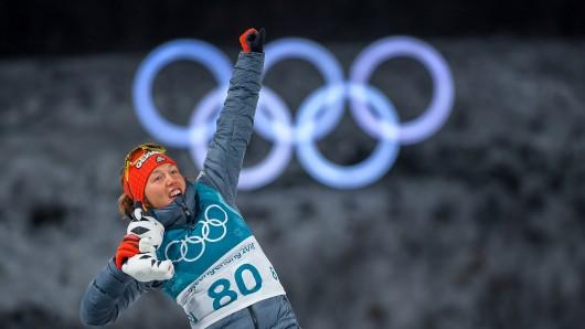 Olympia 2018: Laura Dahlmeier gewinnt Bronze.