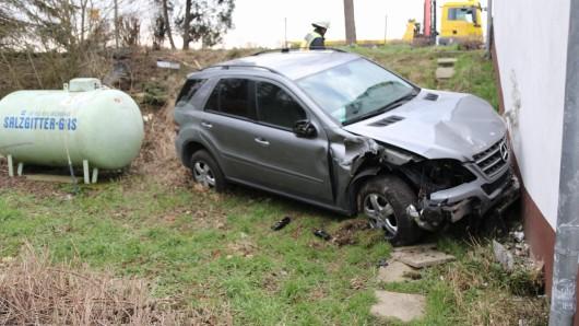 Am Mittag kam es zu einem spektakulären Unfall.