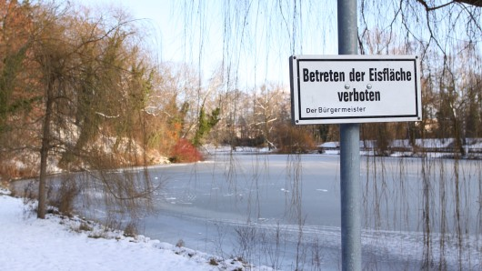 Auch die Eisflächen in Wolfenbüttel dürfen nicht betreten werden.