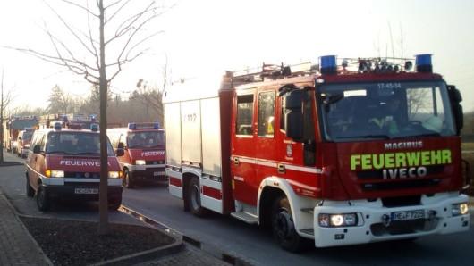 Etwa eine Stunde lang dauerte der Einsatz der Wehrleute im Gewerbepark Flechtorf.